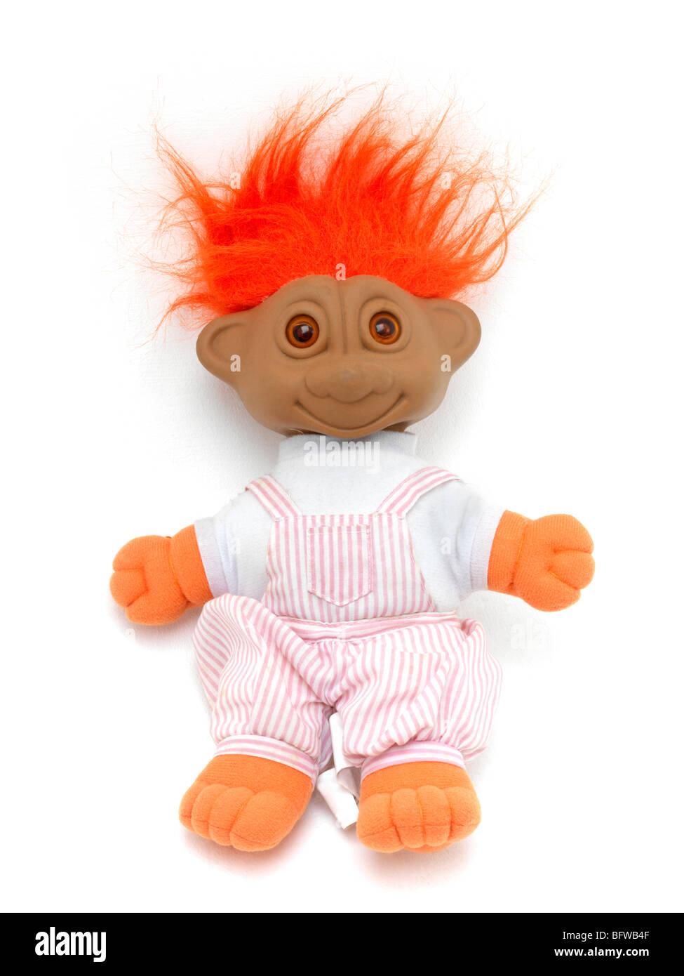 Orange Haired Troll - Gonk Stock Photo