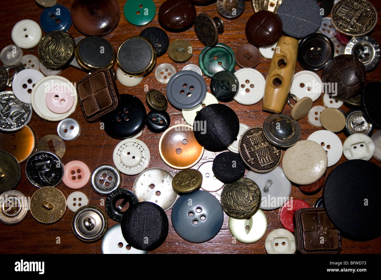 Collection of buttons - Stock Image