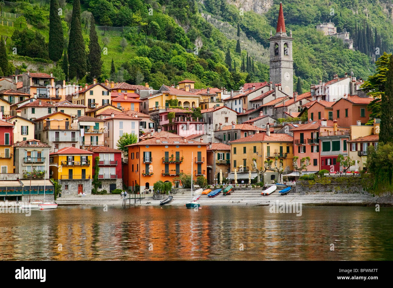 Varenna on the shores of Lago di Lecco, Lombardia, Italy. - Stock Image