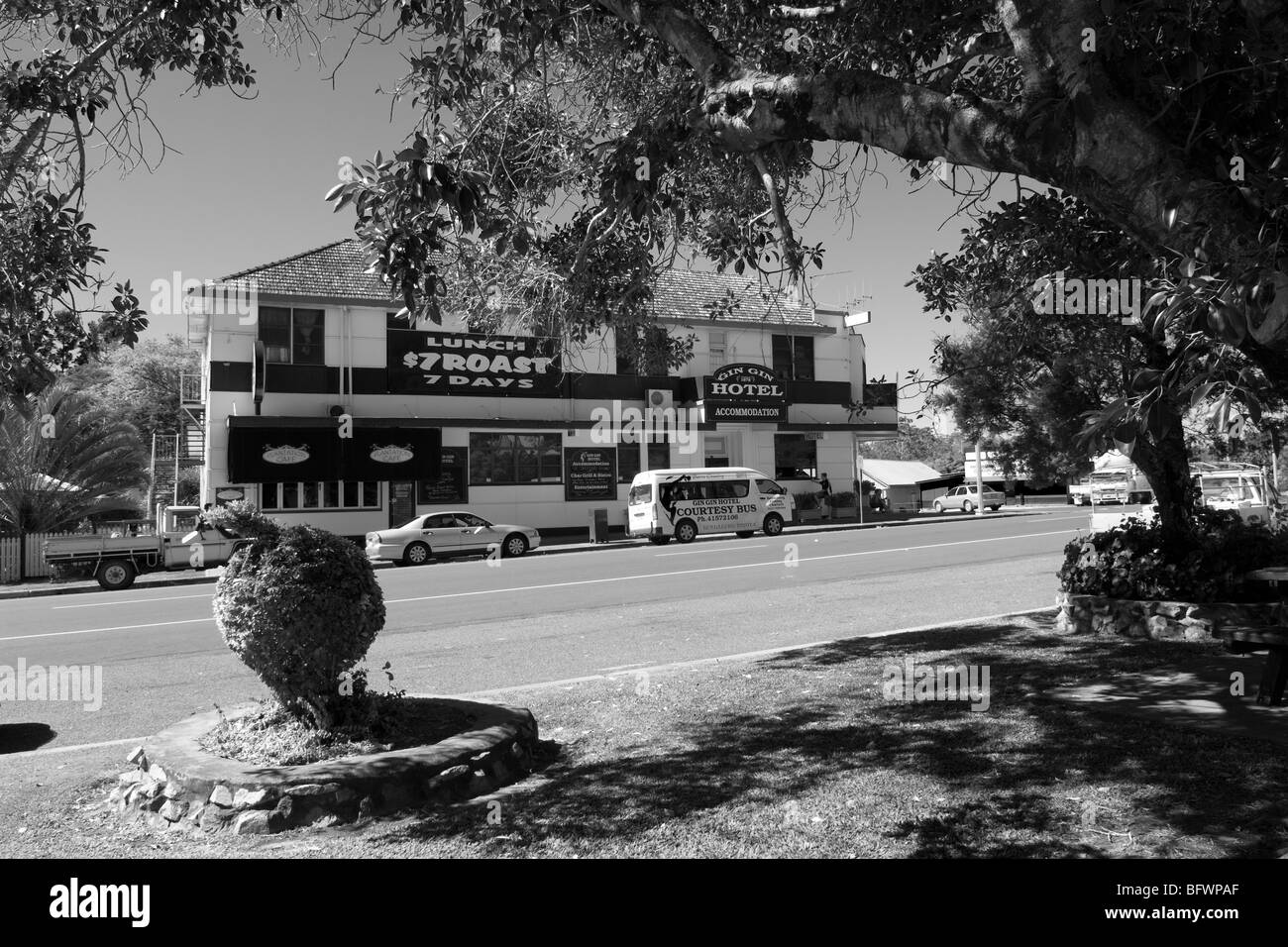 Inviting stopover at Gin Gin, Bruce Highway, Queensland, Australia - Stock Image