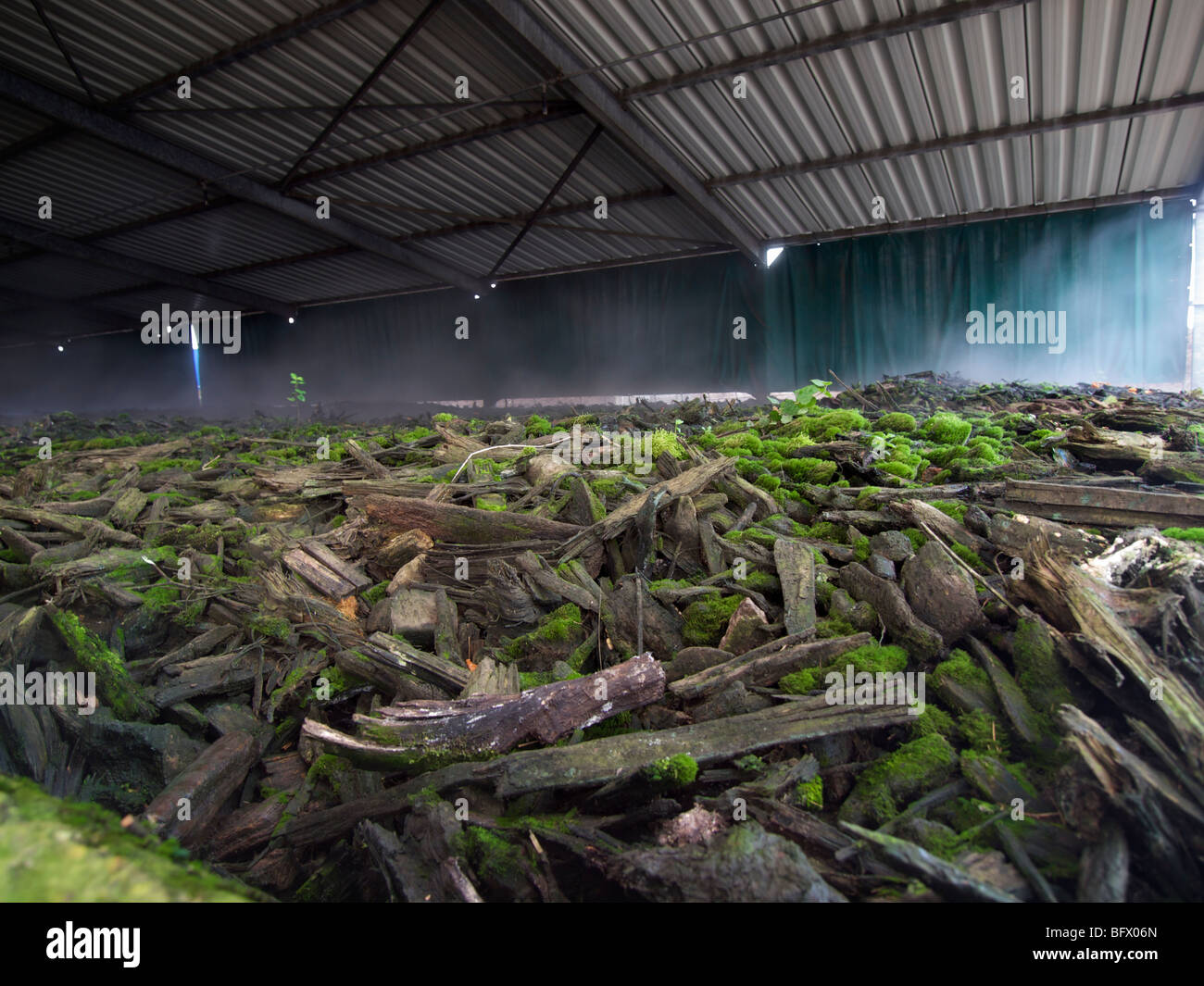 Biofilter at composting plant, Maastricht, the Netherlands
