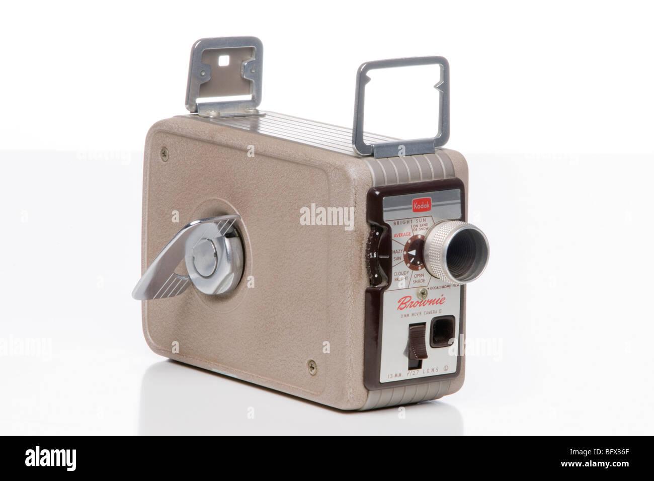 kodak brownie 8mm movie camera - Stock Image