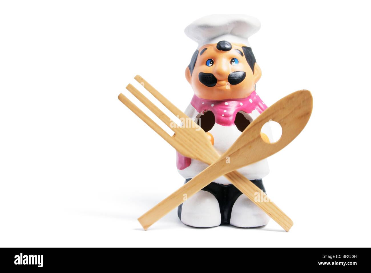 Chef Kitchen Utensil Holder Stock Photo