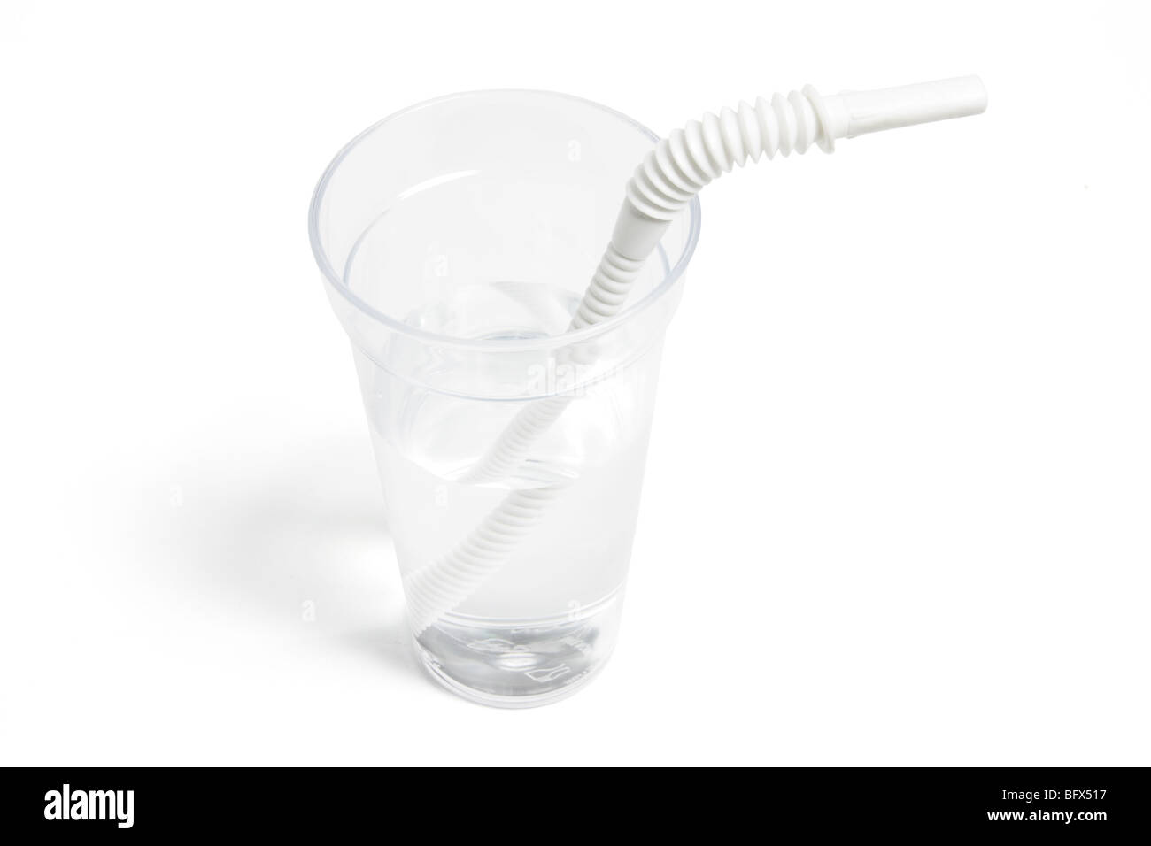 Water in Plastic Cup - Stock Image