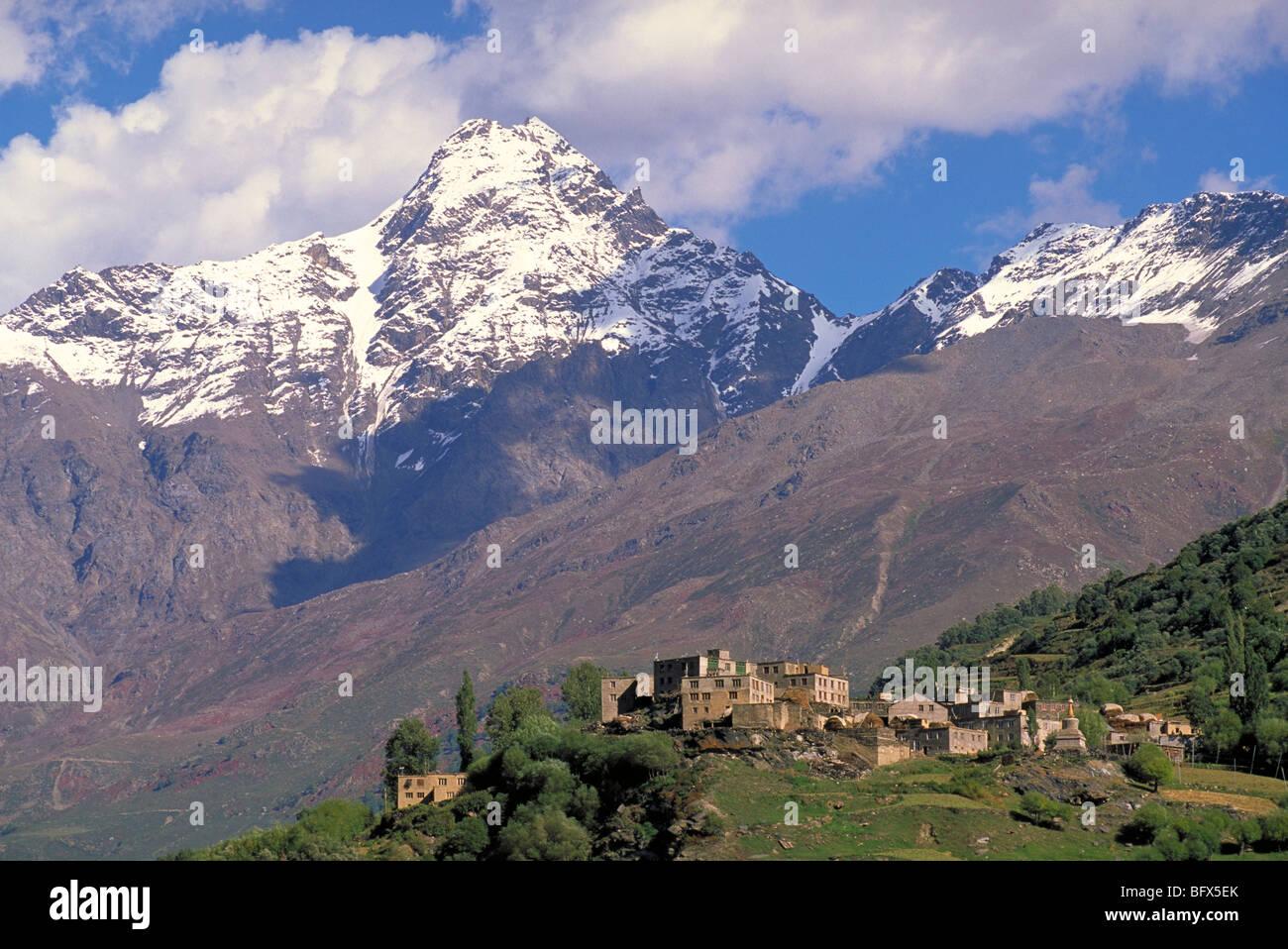 Elk146-2039 India, Himachal Pradesh, Lahaul, Keylong, Khardong village - Stock Image