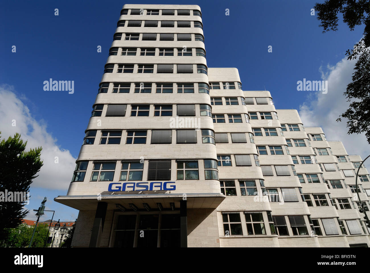 Berlin. Germany. Shell-Haus modernist architectural building 1931. Architect Emil Fahrenkamp. - Stock Image