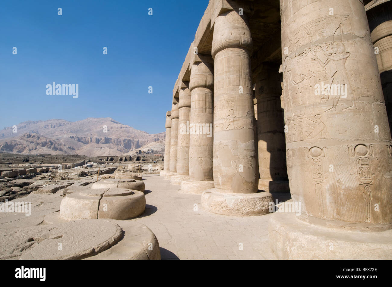 The Ramesseum near Valley of the Kings Luxor Egypt - Stock Image