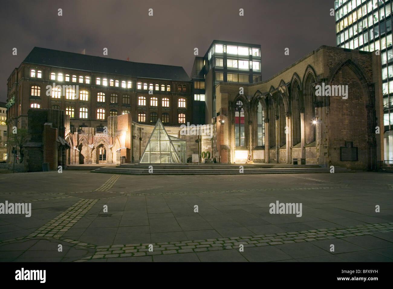 St. Nikolai Kirche, Hamburg, Germany - Stock Image