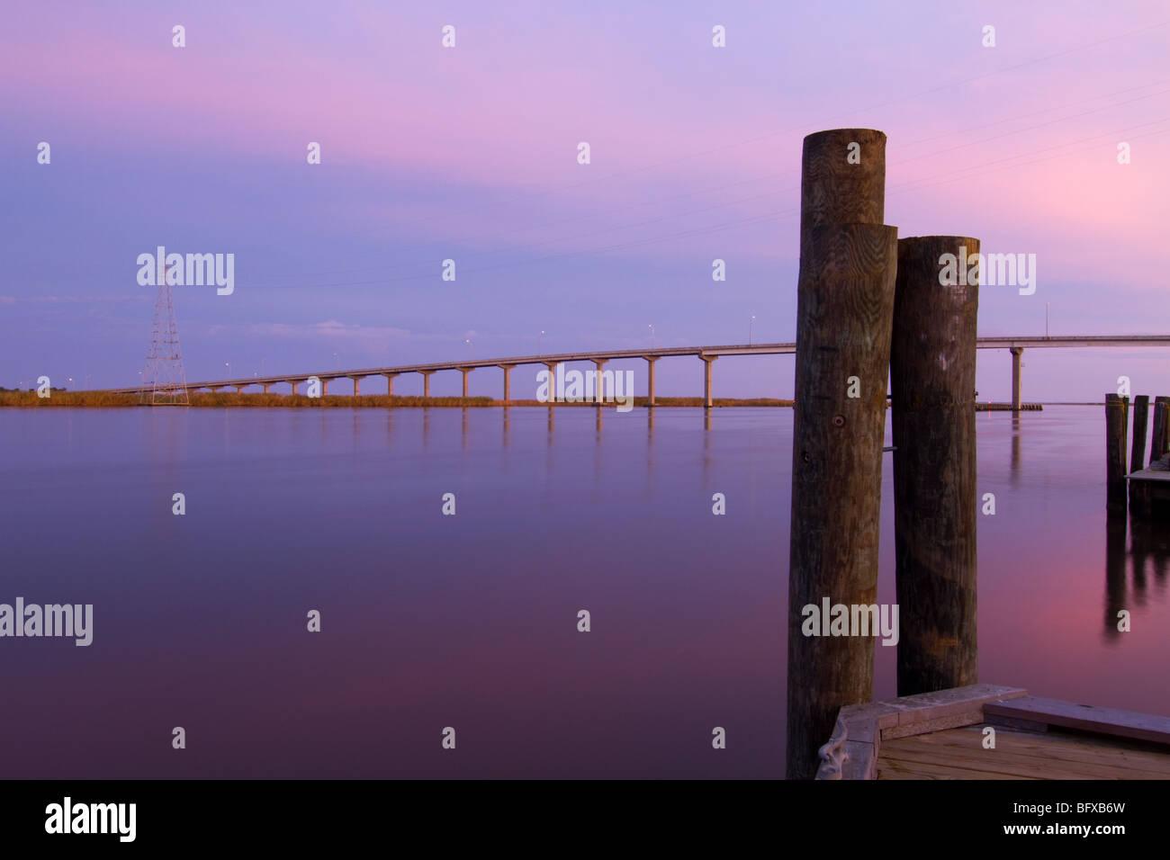 morning light over Apalachicola bay - Stock Image
