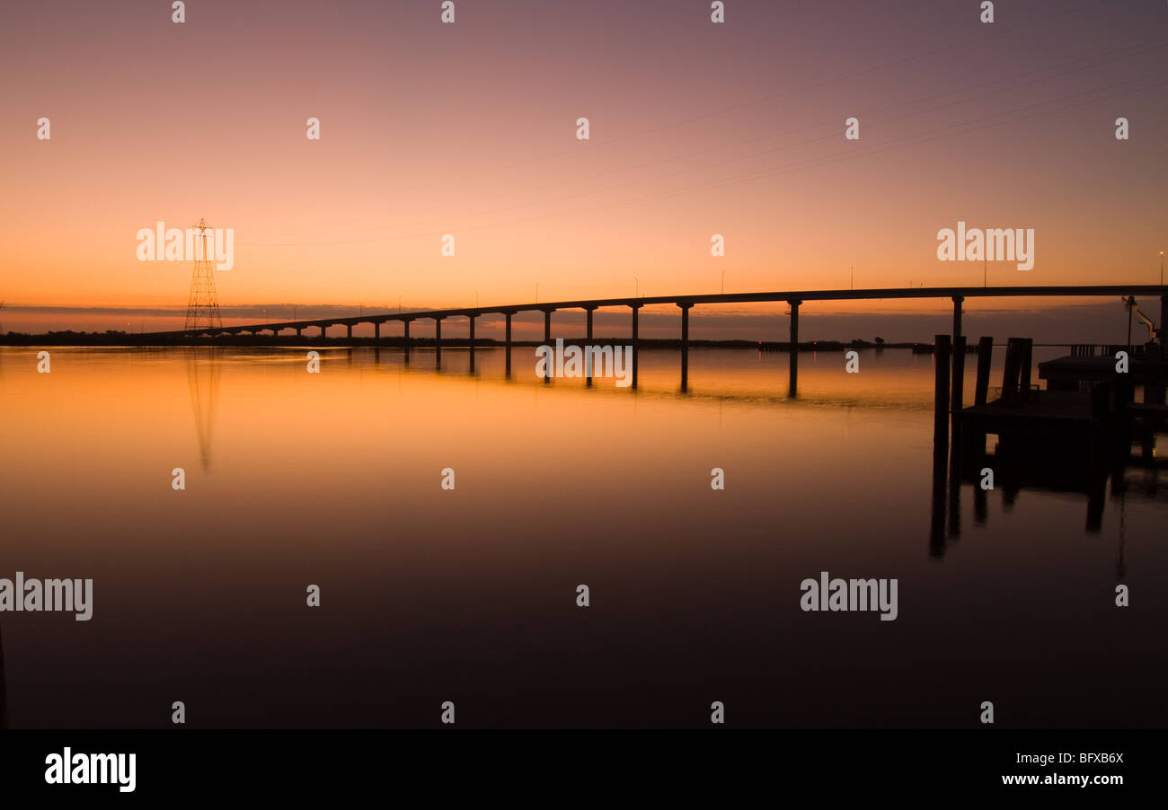 First light on Apalachicola river - Stock Image