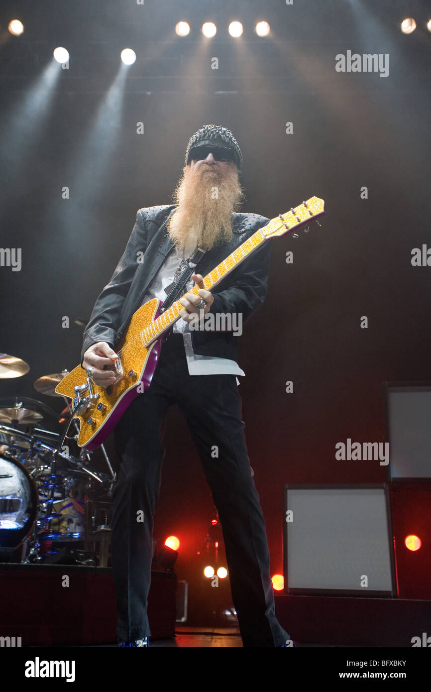 BUDAPEST-OCTOBER 15: ZZ TOP performs on stage at Sportarena - Stock Image
