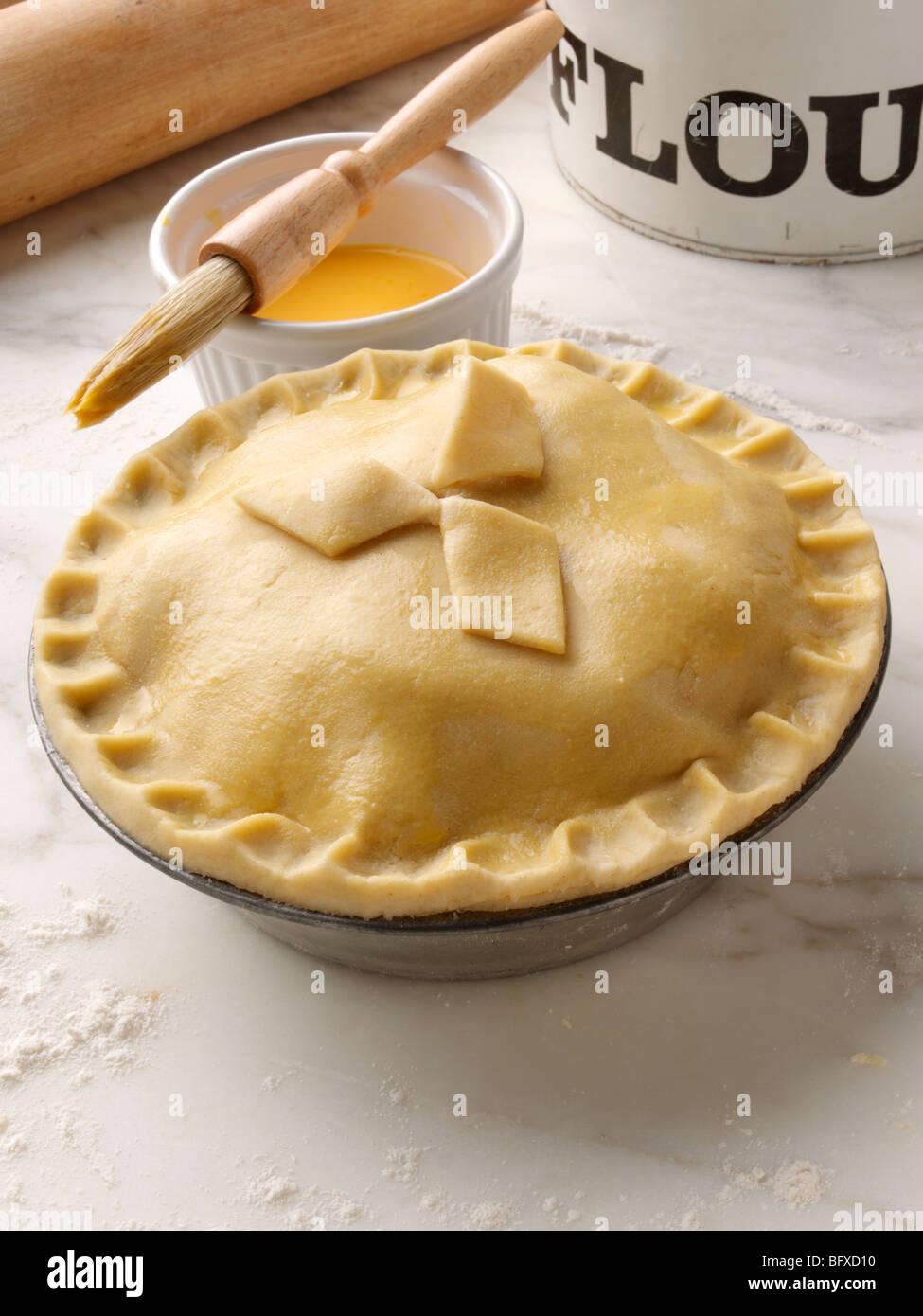 Shortcrust Pastry Pie In Cake Tin