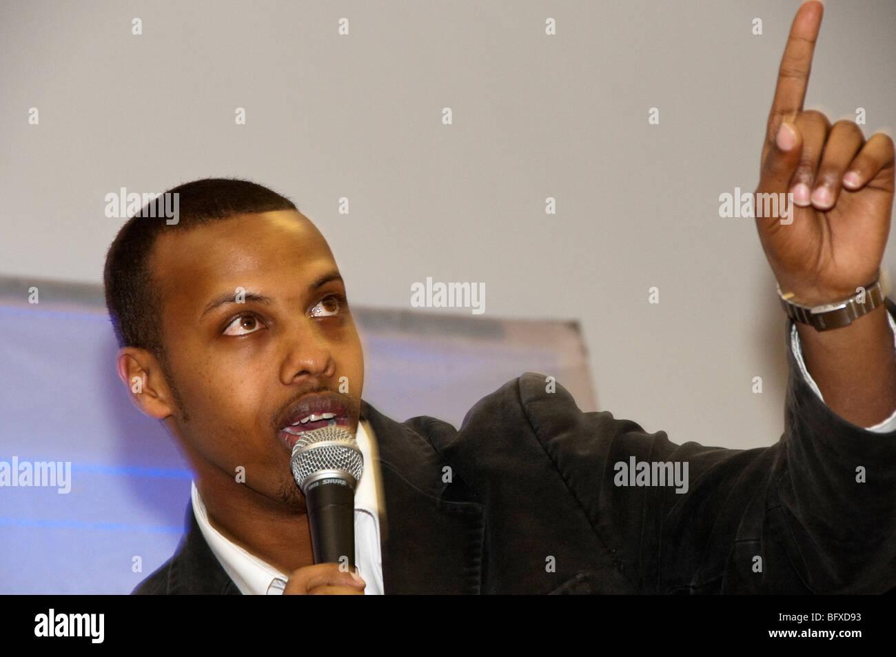 Black Comedian Prince Abdi At Eid Milad Un Nabi Celebrations At Sunni Muslim Association Tooting London