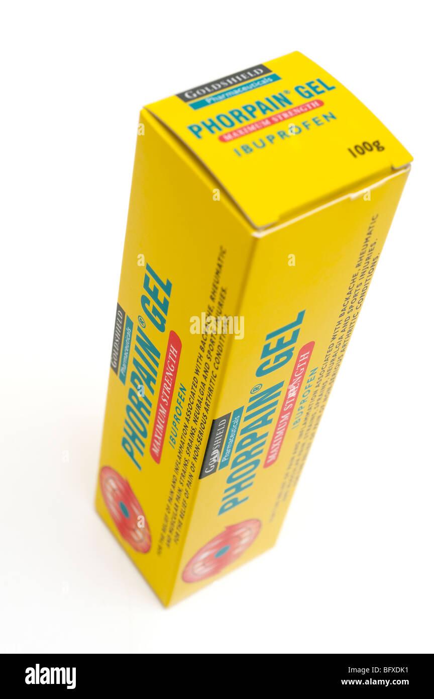Phorpain gel maximum strength ibuprofen gel - Stock Image