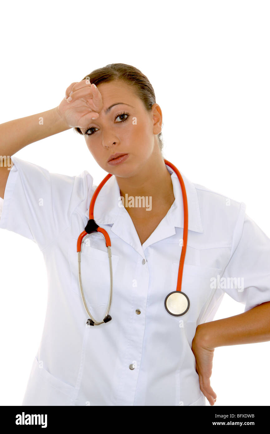 Krankenschwester mit Stethoskop, nurse with stethoscope Stock Photo