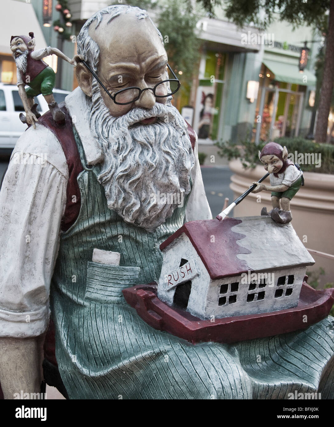 Santa Claus life size statue. - Stock Image