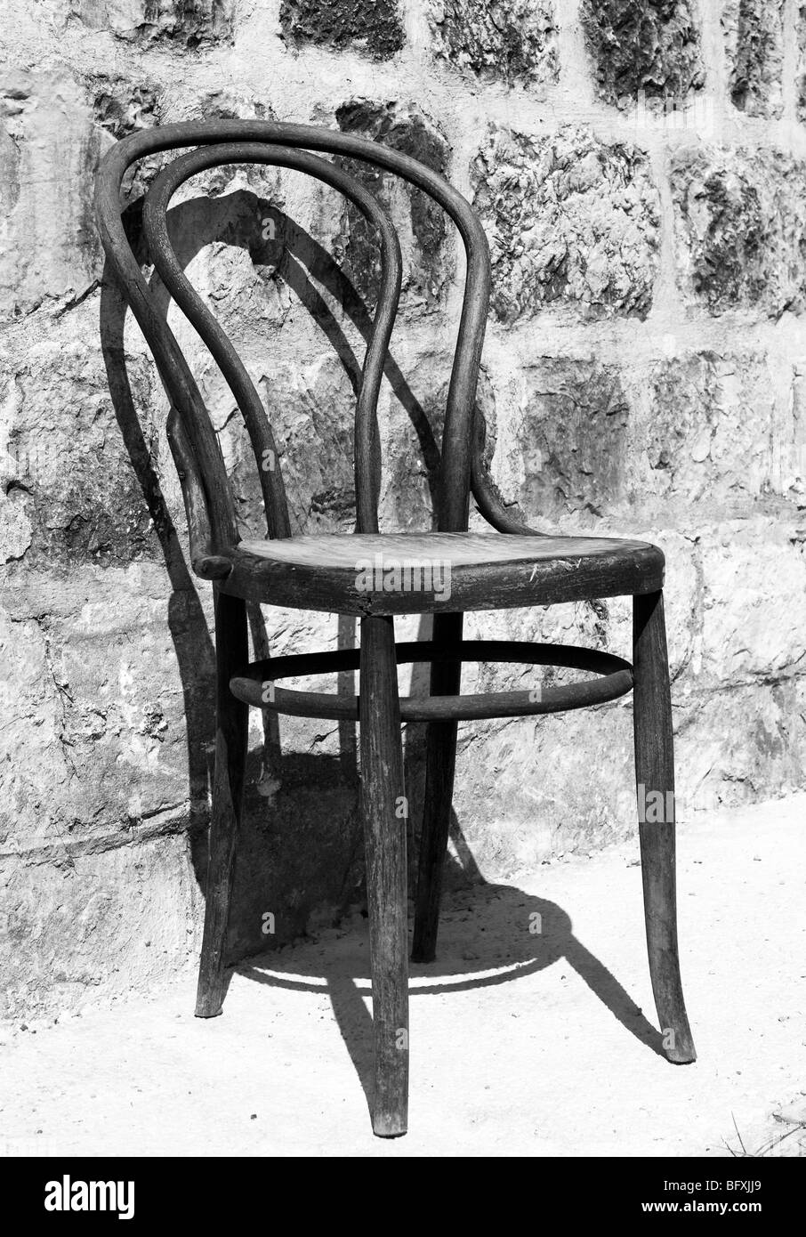 Wondrous Old Wooden Chair In Front Of A Church Slano Croatia Camellatalisay Diy Chair Ideas Camellatalisaycom