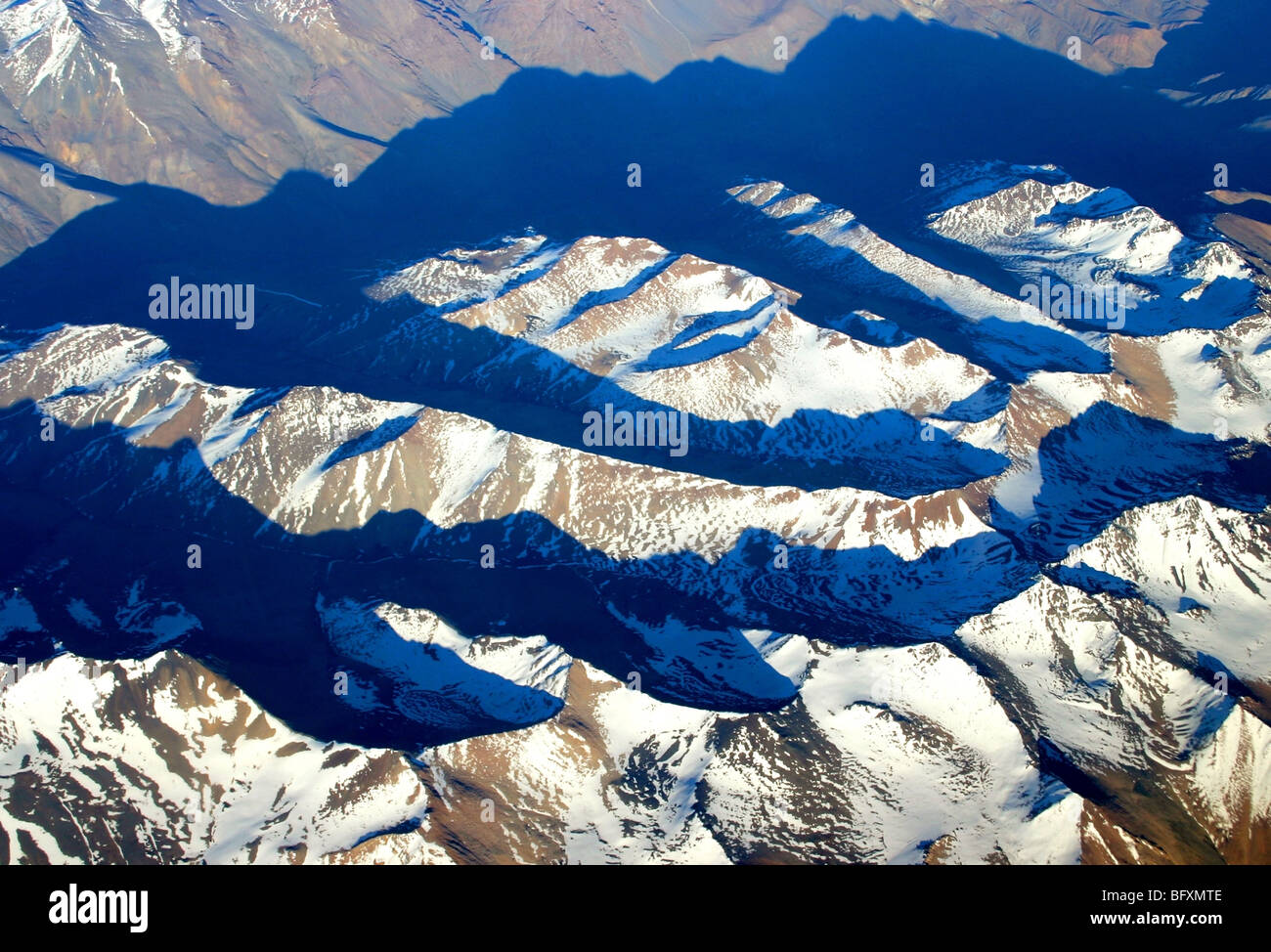 Aerial View of the Andes, Chile - Stock Image