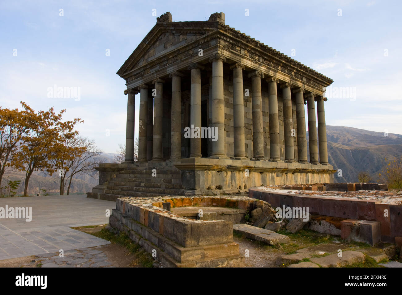The temple of Garni, Armenia. - Stock Image