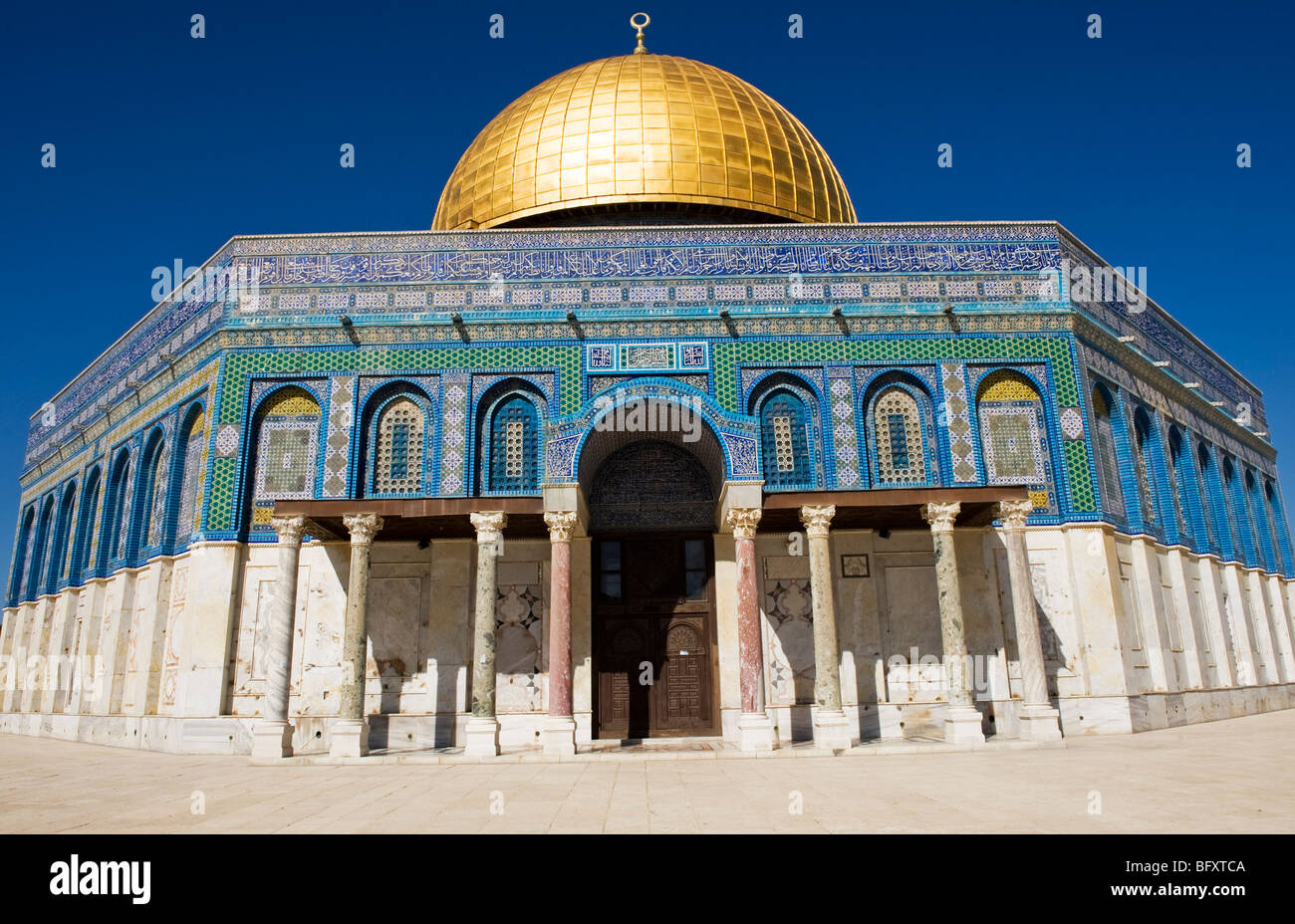 The Al-Aqsa mosque in the old city of Jerusalem. - Stock Image