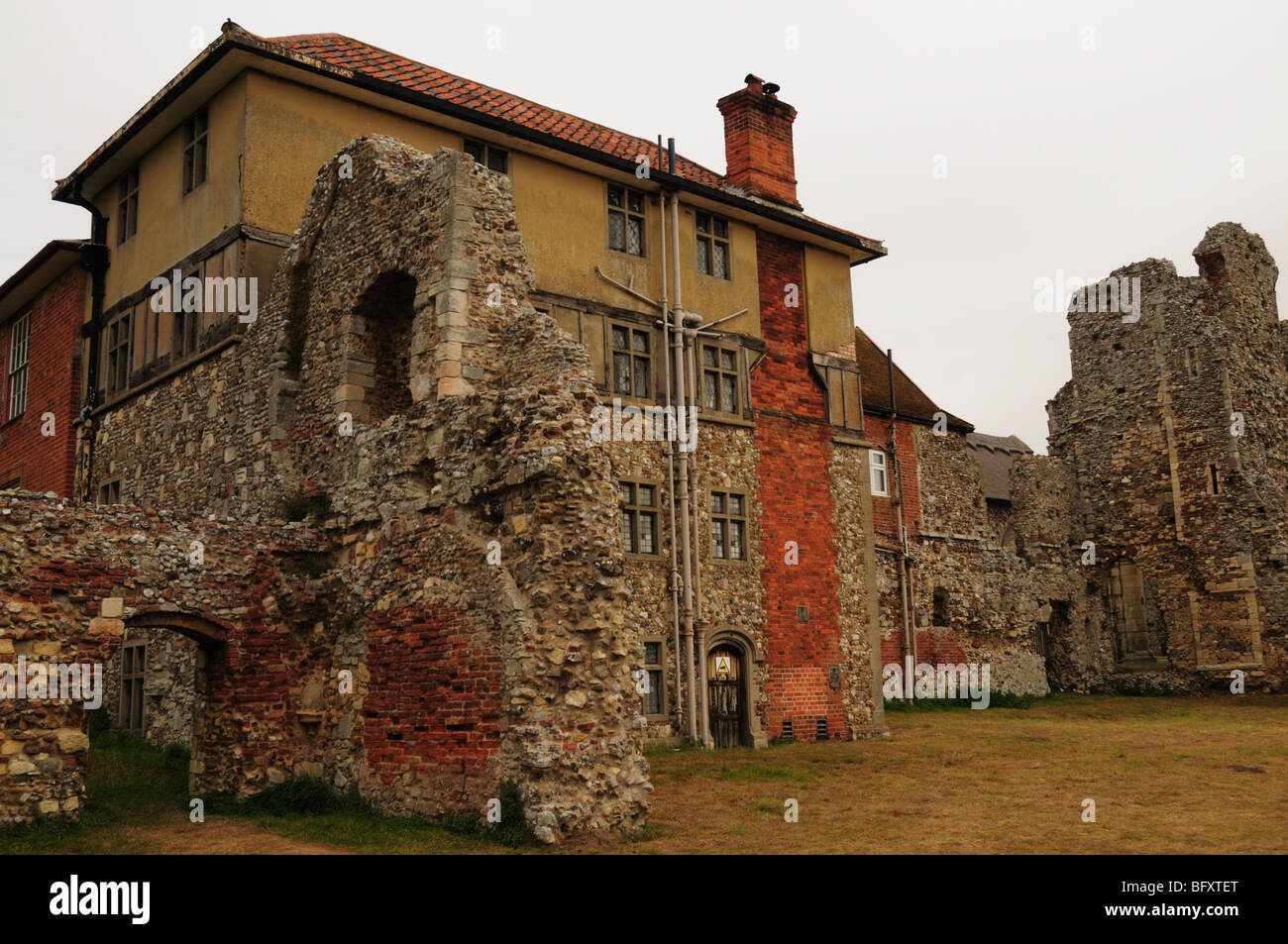 Leiston Abbey, extension with ruins Suffolk - Stock Image
