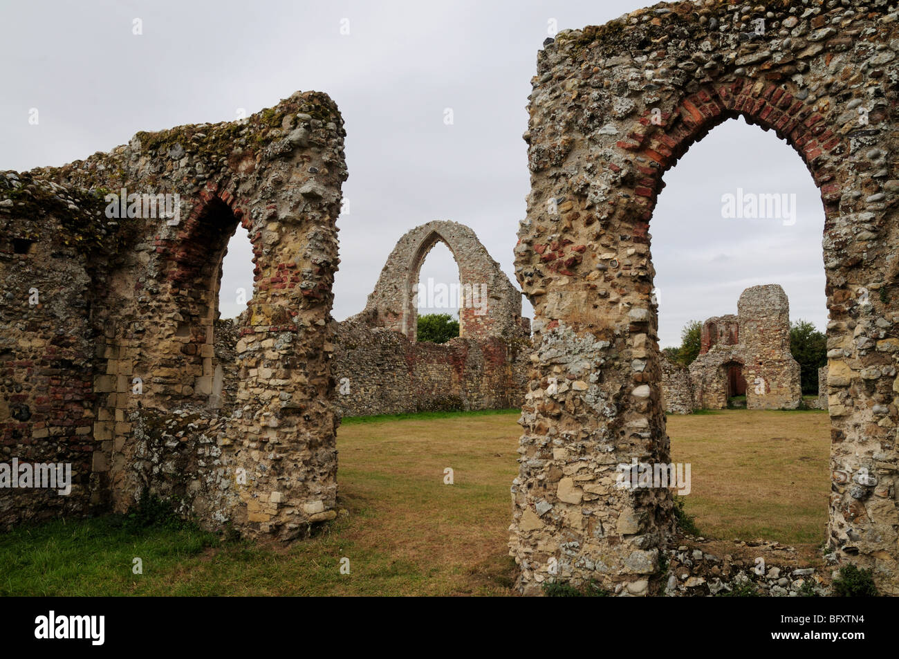 Leiston Abbey Arches, Suffolk - Stock Image