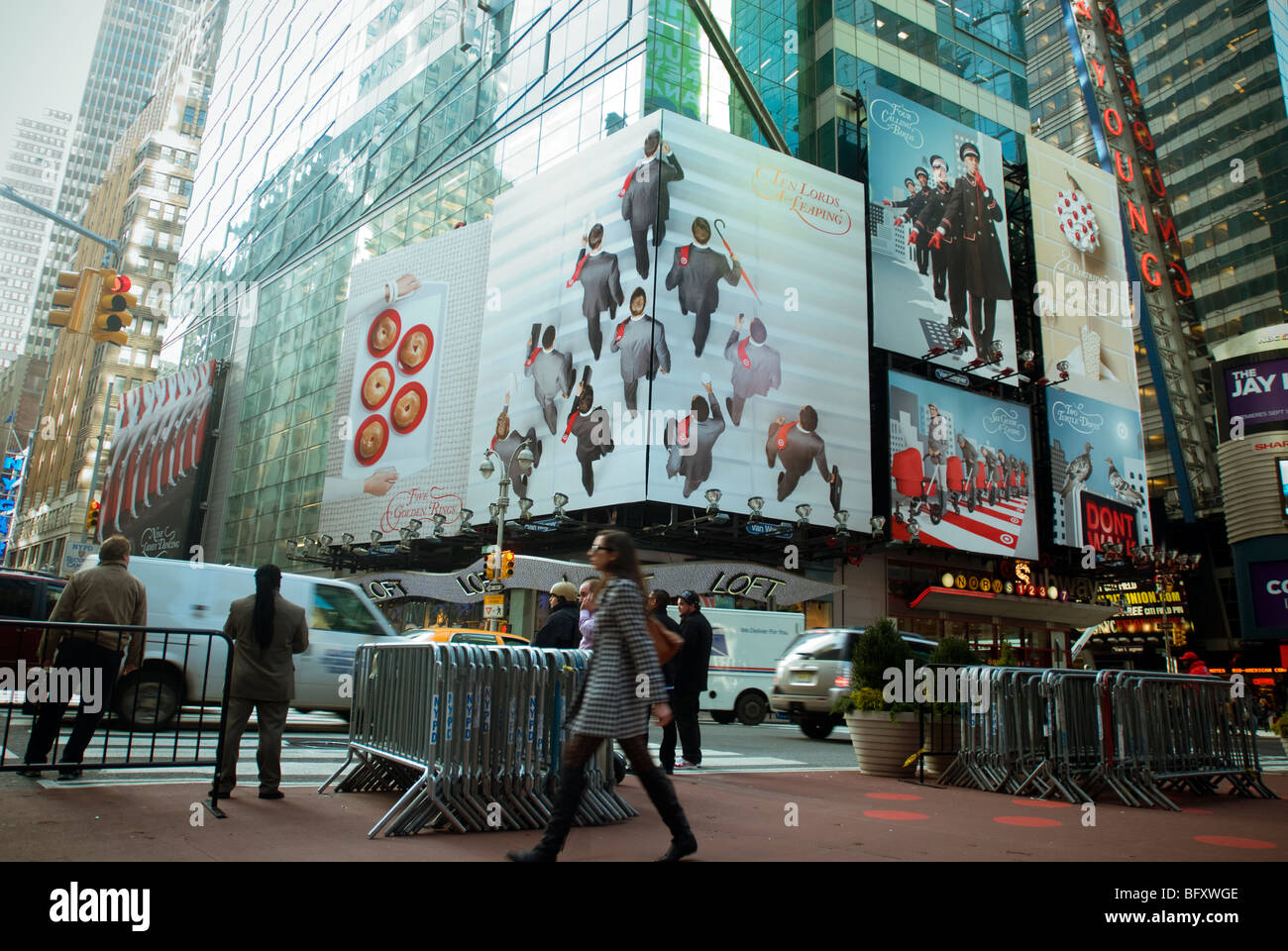 A billboard advertising Target department stores is seen in Times Square in New York - Stock Image