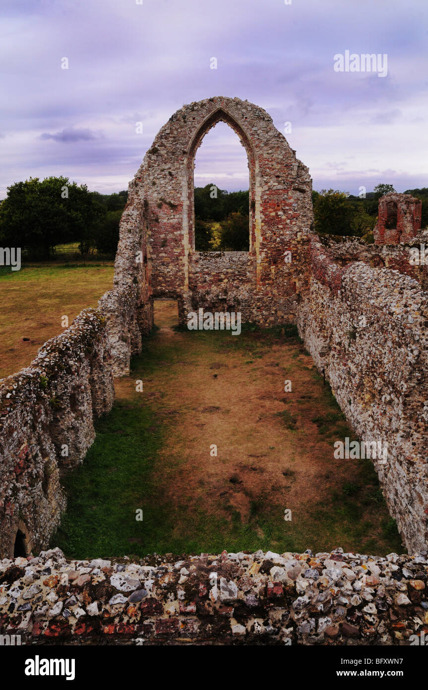 Main hall Leiston Abbey Ruins Suffolk - Stock Image