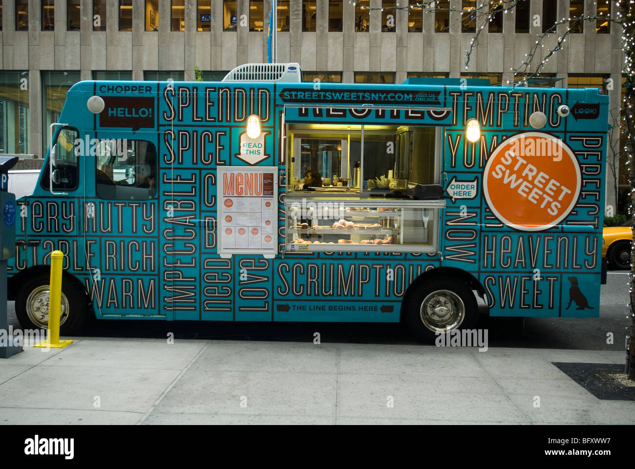 The Street Sweets Truck In Midtown In New York On Friday November Stock Photo Alamy