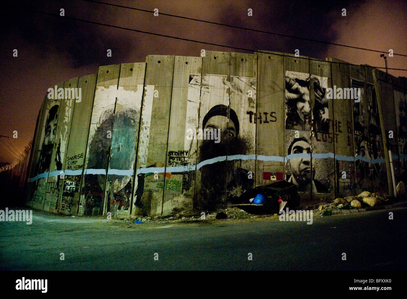 Bethlehem security barrier in the occupied west bank, Palestine. - Stock Image