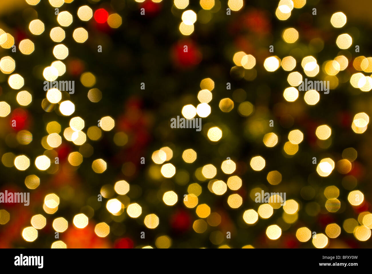 De-focused Christmas lights - Stock Image