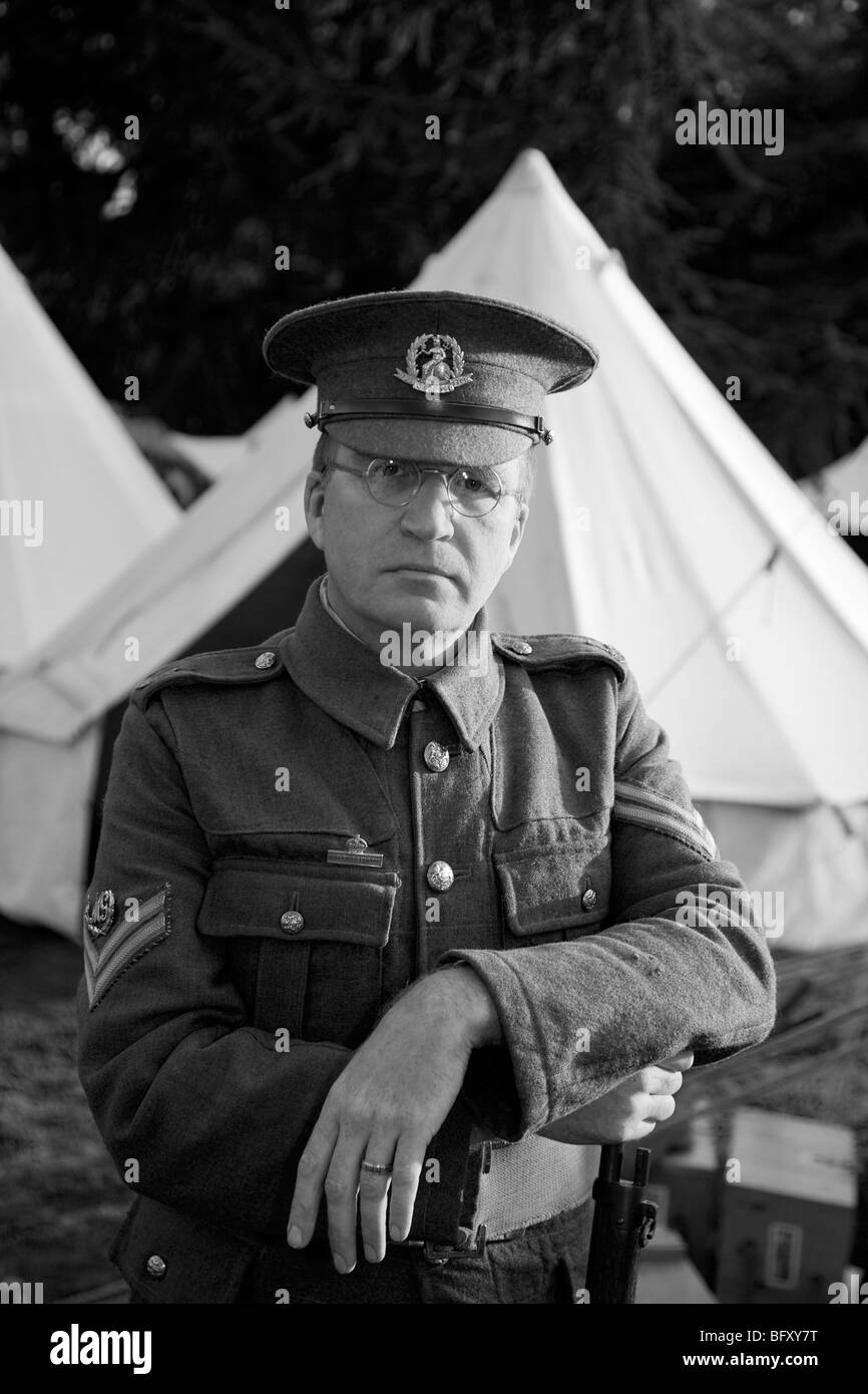 Richard Knight, historian and supplier of authentic British army uniforms and equipment from the two world wars. - Stock Image