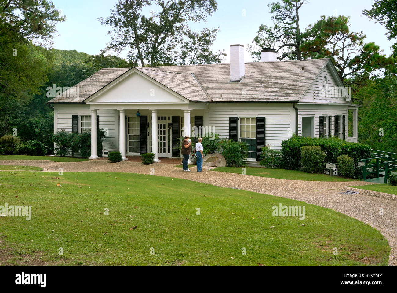 The little white house of Franklin Delano Roosevelt, Warm Springs, Georgia - Stock Image