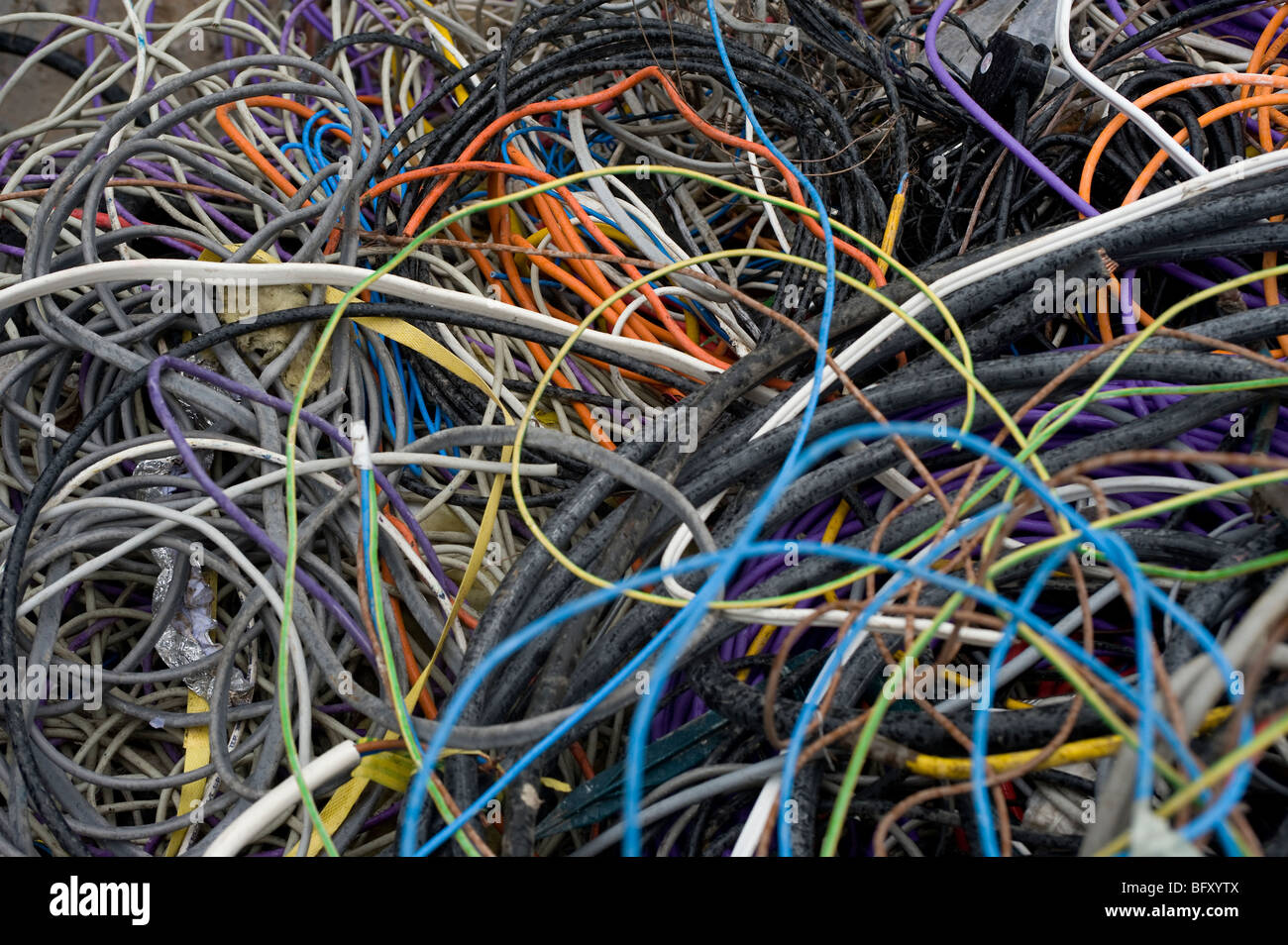 Electrical Materials Stock Photos Wiring Philippines Waste At A Recovery Facility In England Image