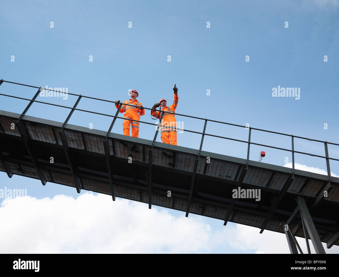 Coal Workers On Viewing Platform - Stock Image