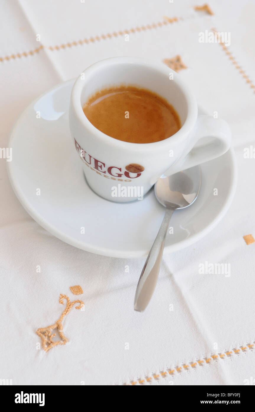 Close up of a cup of espresso coffee - Stock Image