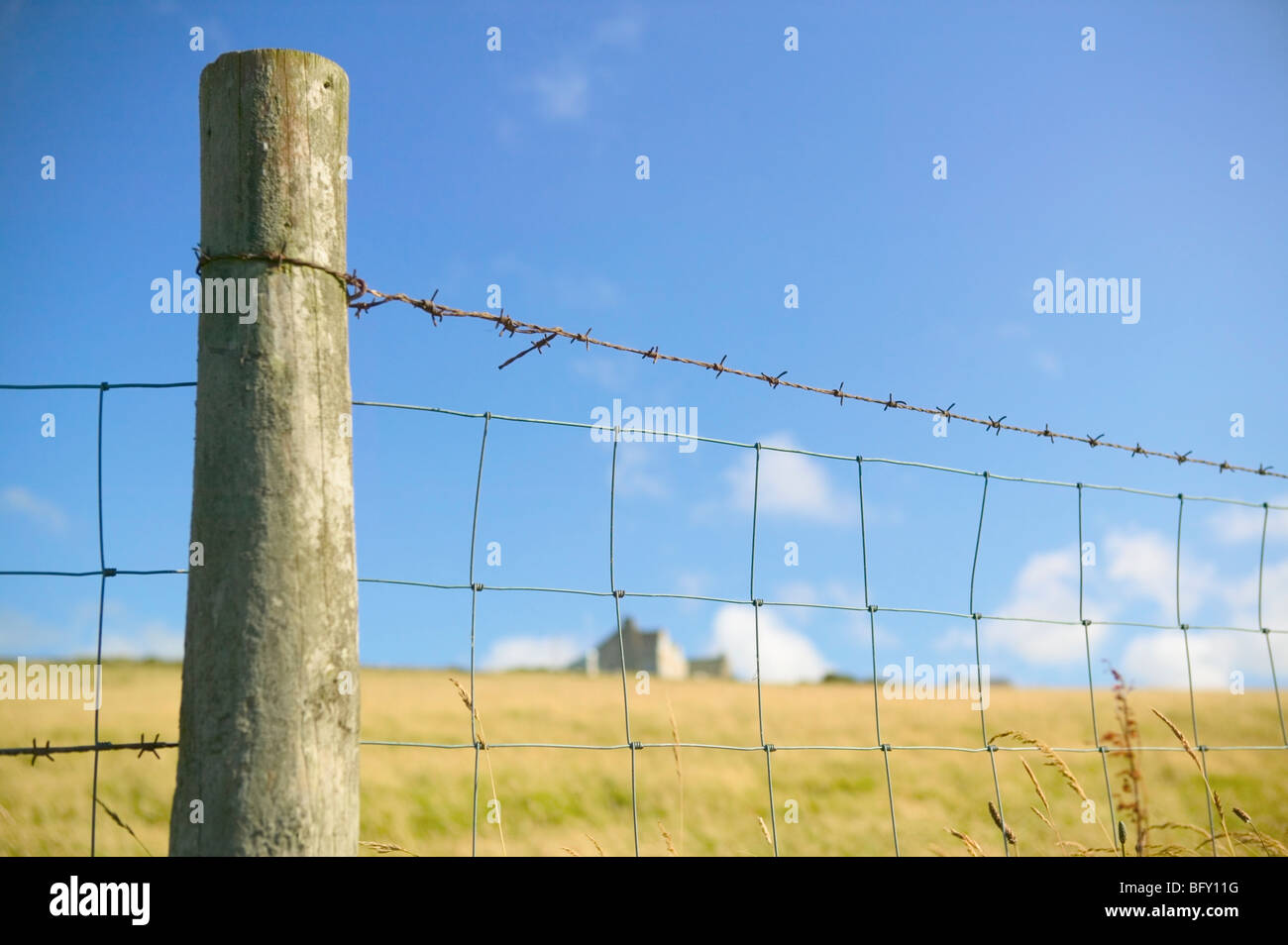 misc fence farming keep out private - Stock Image
