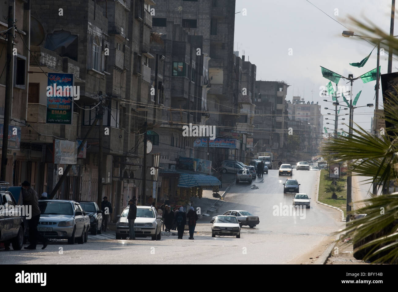 Street scene Gaza Strip. - Stock Image