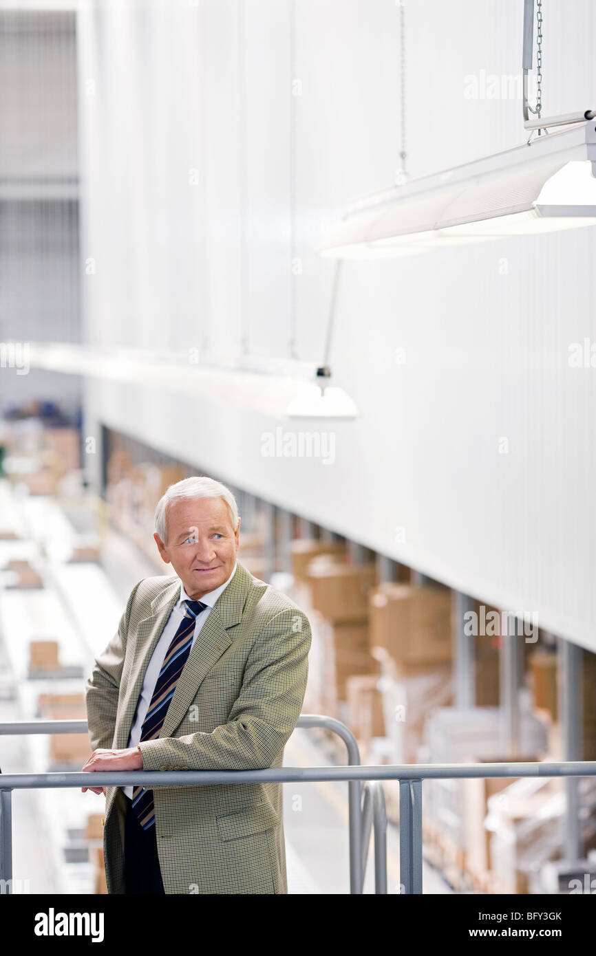 man in charge in storage - Stock Image