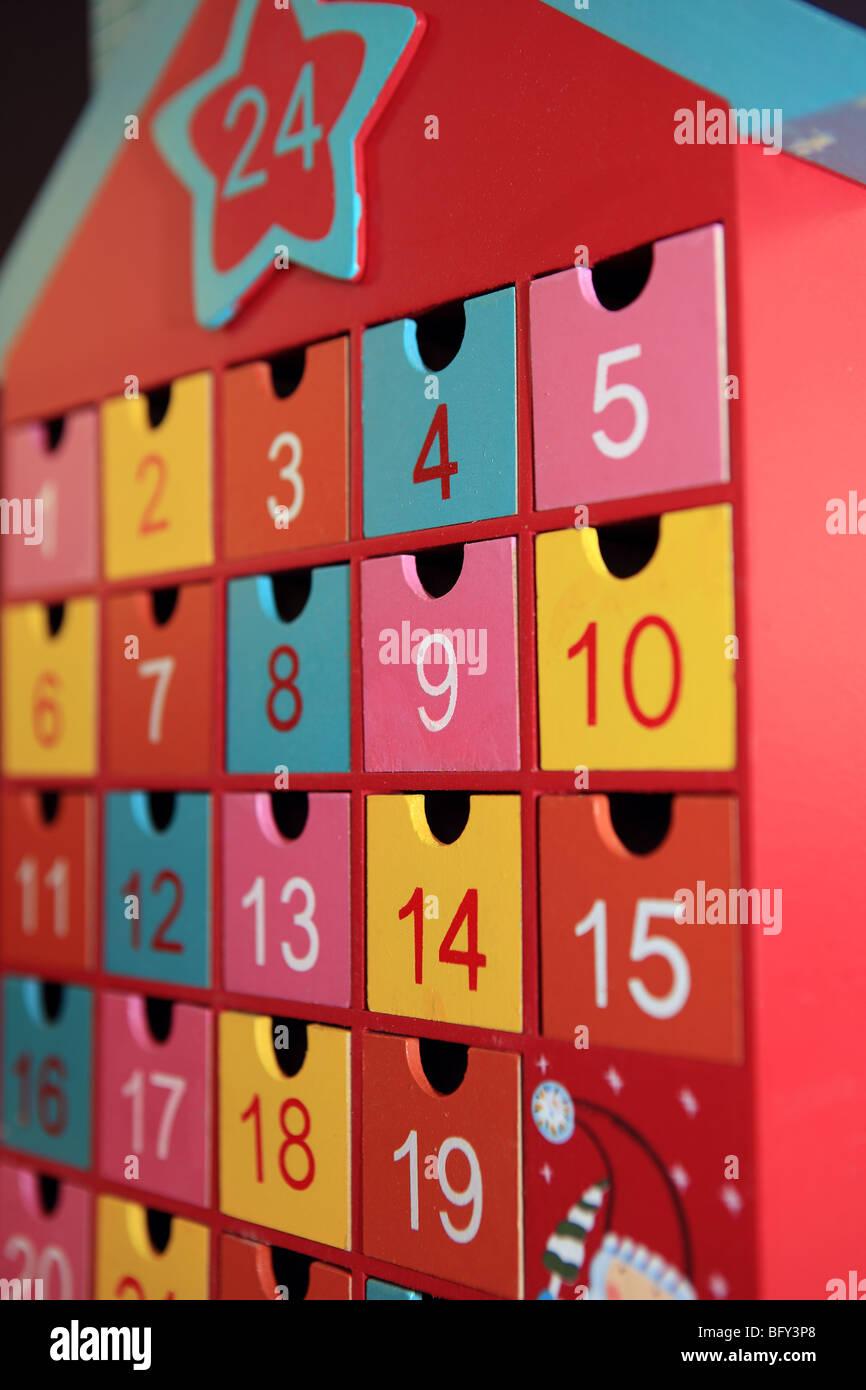 Advent calendar - Stock Image