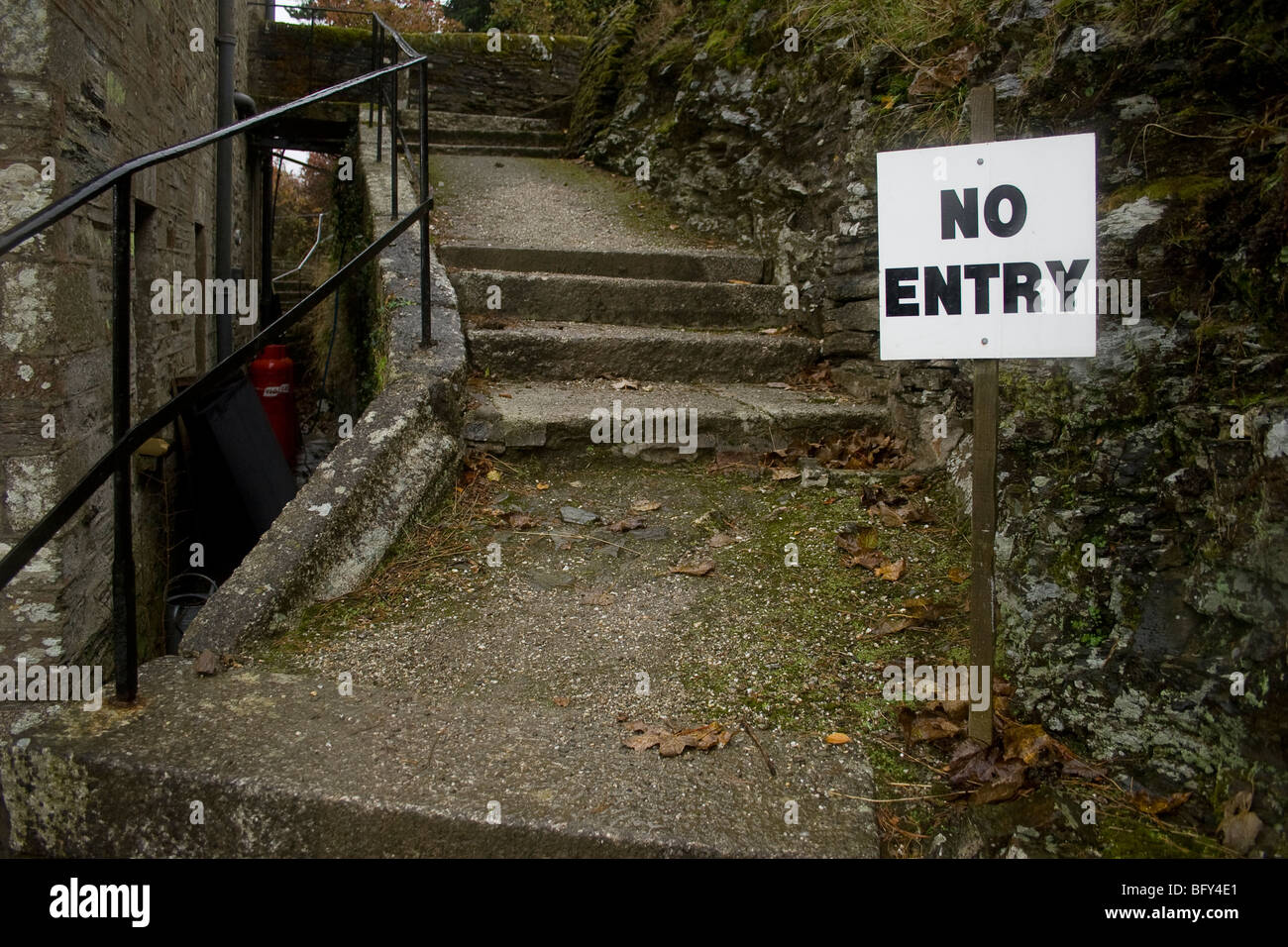 'No Entry' to a path sign. Stock Photo