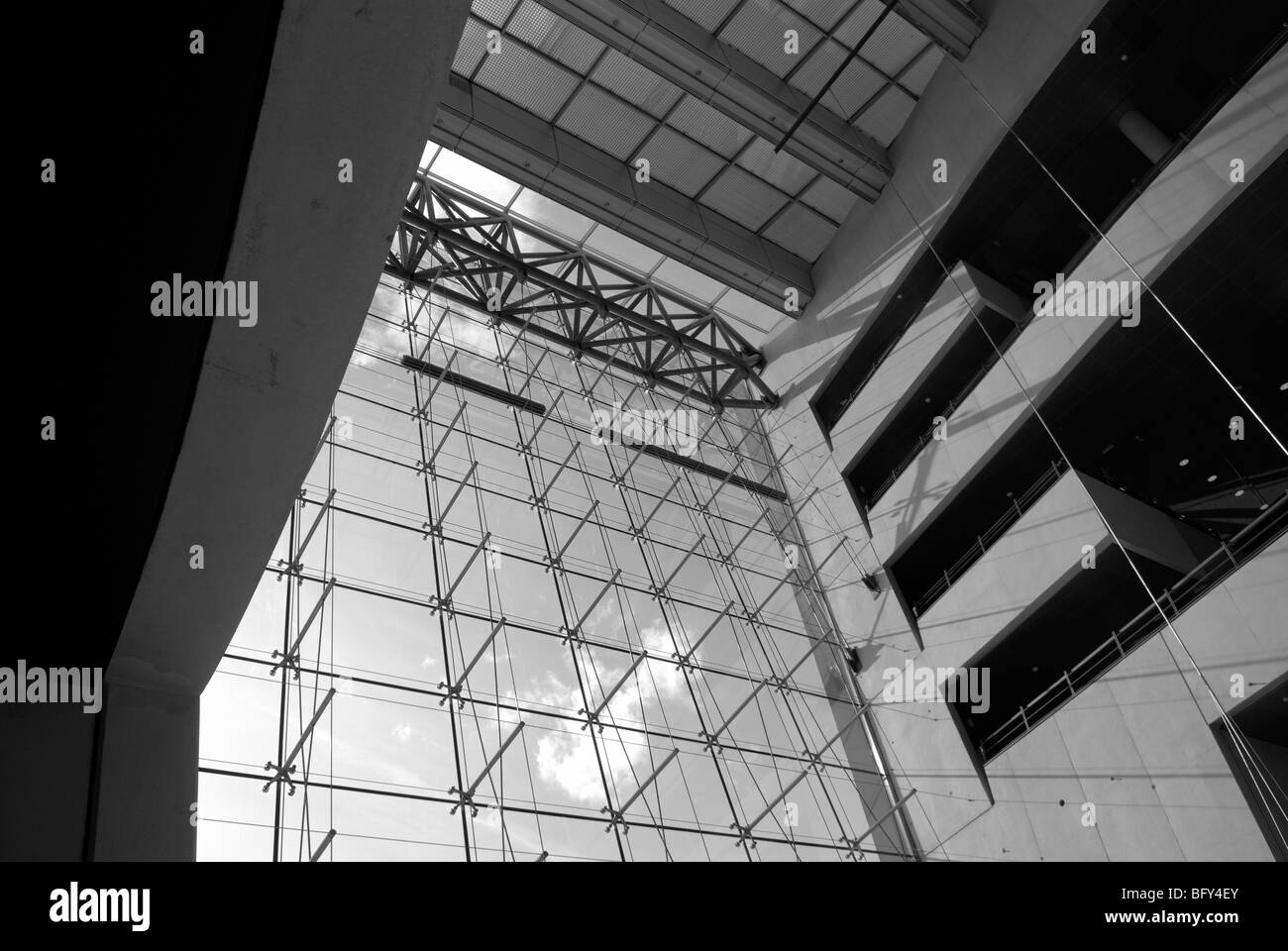 MODERN GLASS FACADE - Stock Image