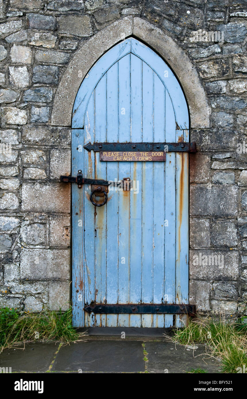 Door into the old walled garden of Dunraven Castle, Southerndown, Glamorgan Heritage Coast, Wales, UK. Stock Photo