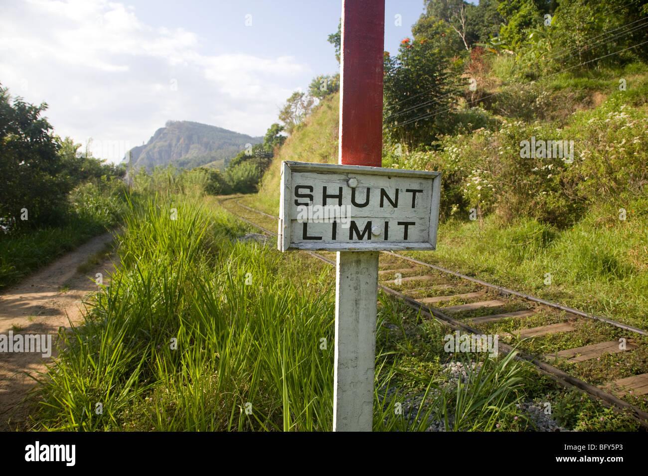 Sri Lanka, The main train east from Colombo into the Hill Country, through Kandy, Nanu Oya, for Nuwara Eliya and - Stock Image