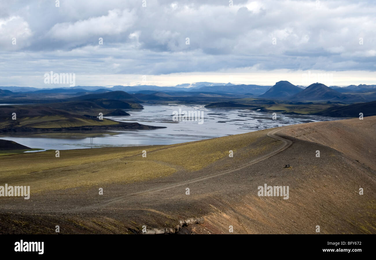volcanic landscape, Iceland - Stock Image
