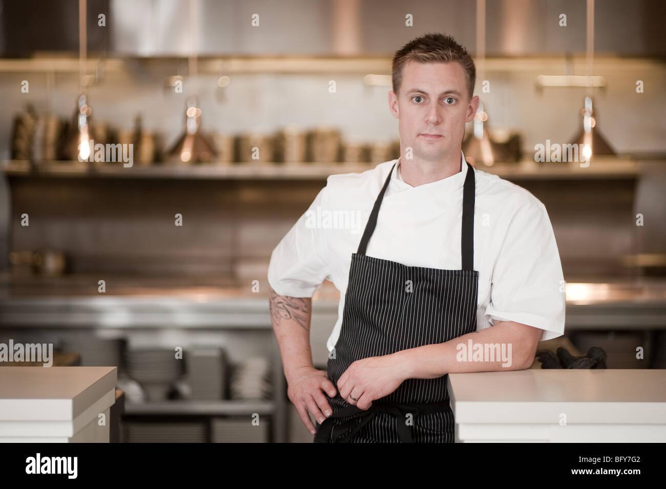 Bryan Voltaggio , Chef, VOLT 228 Market street Frederick MD, - Stock Image