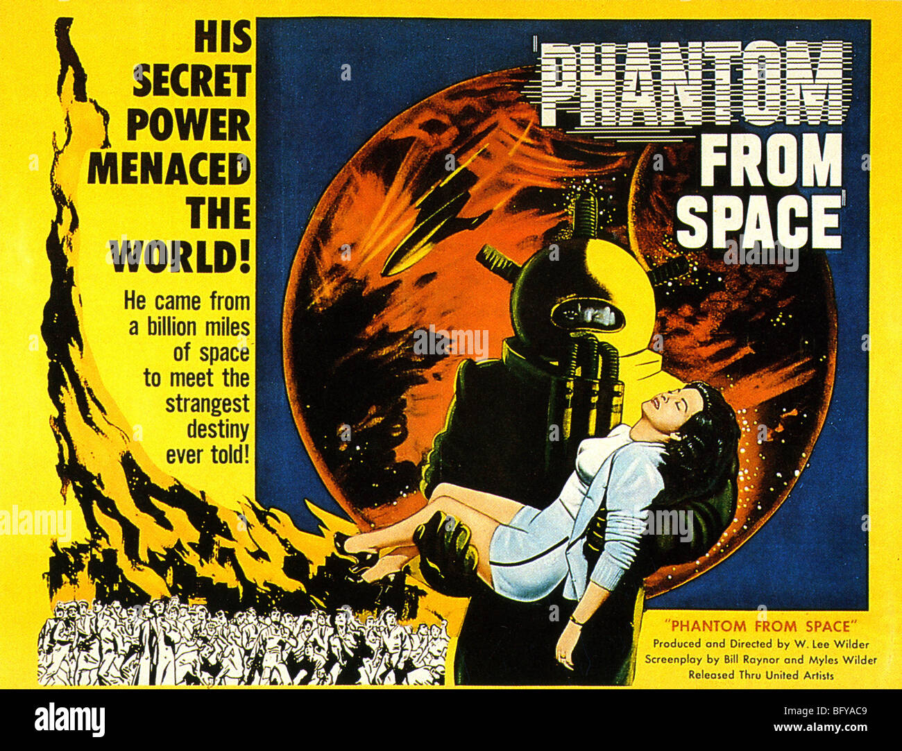 PHANTOM FROM SPACE  Poster for 1953 United Artists film - Stock Image