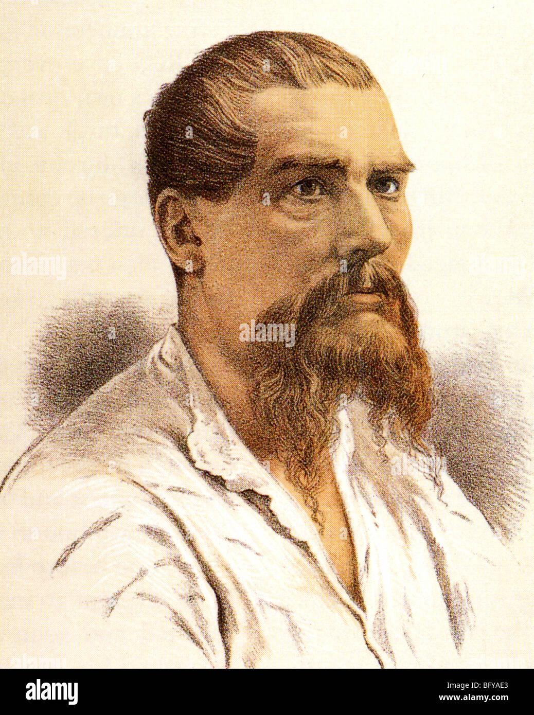 SIR RICHARD FRANCIS BURTON  English explorer, linguist and diplomat  (1821-90) - Stock Image