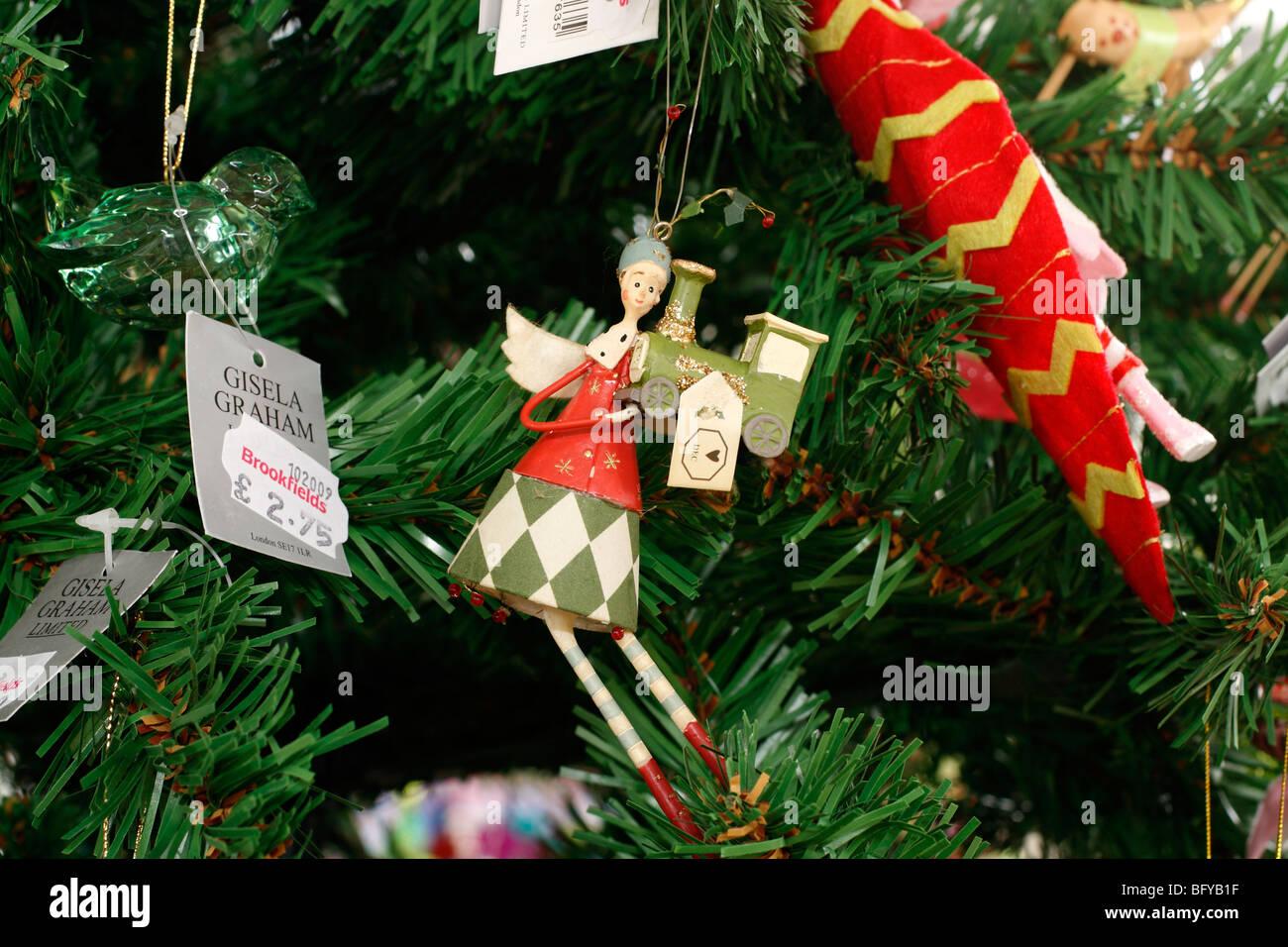 Gisela Graham Christmas Bells Hanging Decoration Ornament
