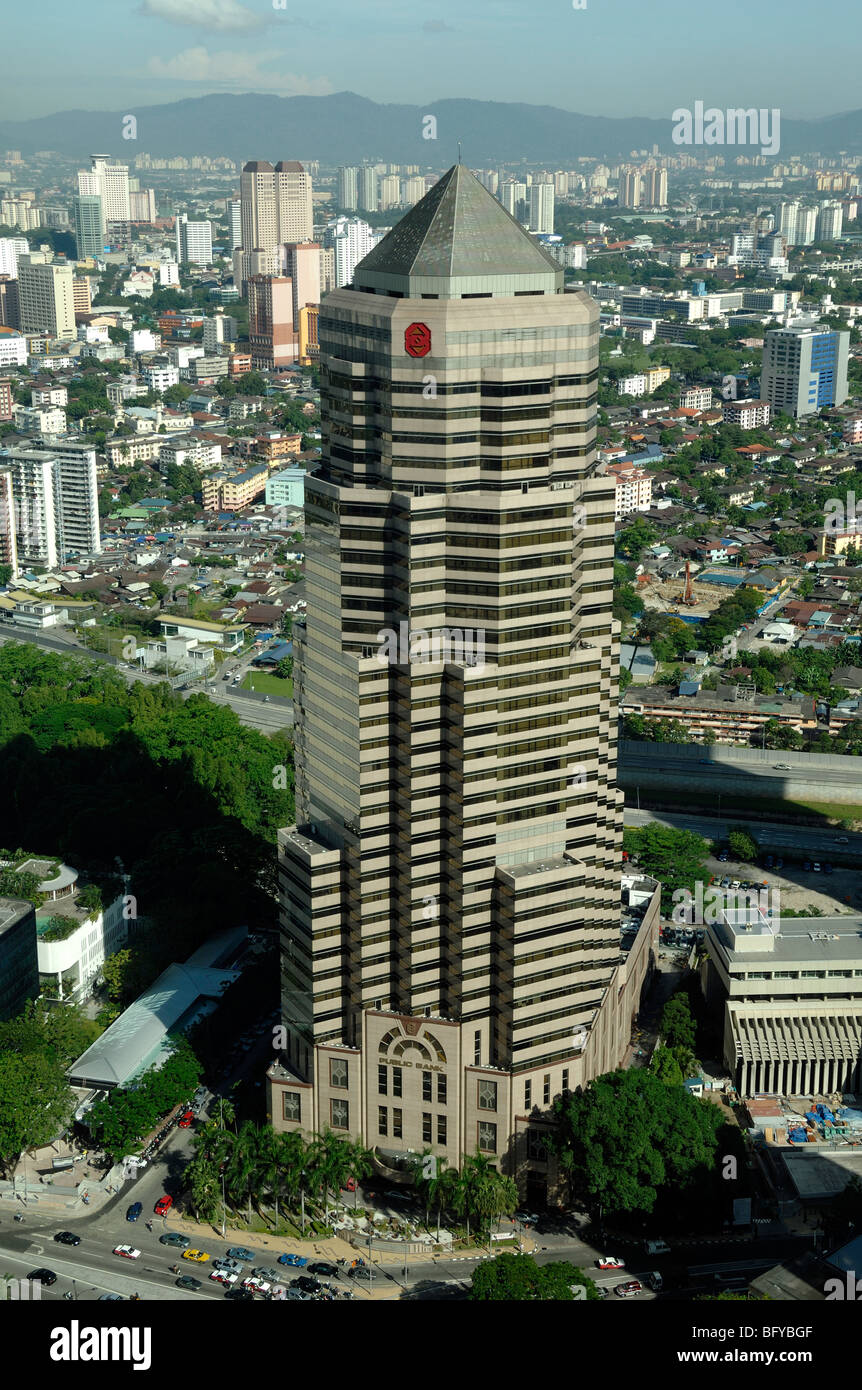 Public Bank, Offices or Office Tower Block, KLCC or Kuala Lumpur City Centre, Kuala Lumpur, Malaysia Stock Photo